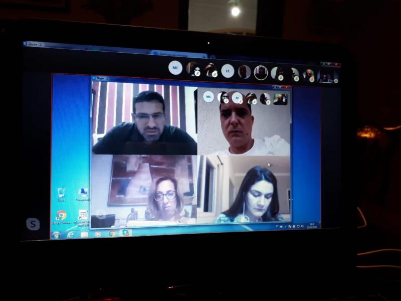 Reunião da Diretoria Executiva aconteceu por vídeo conferência.
